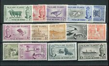 Falkland Islands KGVI 1952 set of 14 SG172/85 MNH