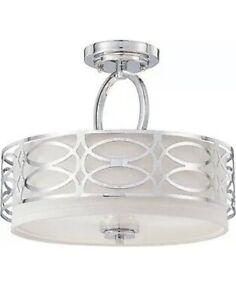 Nuvo Lighting 60/4629 Harlow - Three Light Semi-Flush Mount  Polished Nickel