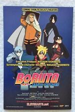 """BORUTO - THE NARUTO MOVIE - Original Movie Postcard 4""""x6"""" 2015 Rare MINT"""