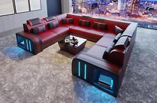 Diseño Sofá Cuero Tapicería Asiento Conjunto de Muebles para Salón la Esquina A2