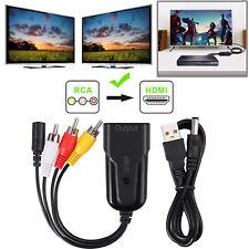 RCA to HDMI Converter Cable Composite AV CVBS Video Adapter 720p 1080p PAL/NTSC