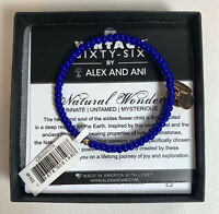Alex and Ani Vintage 66 Natural Wonders GLACIER Blue + Gold Canopy Wrap NIB NWT