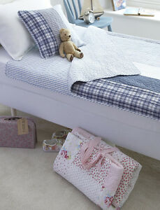 BOYS TOP QUALITY BLUE & NAVY QUILTED SLEEPOVER SLEEPING BAG OR QUILT - CHARLES