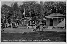Riviere du Loup Quebec Canada Cabins Street View Antique Postcard K54876