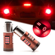2x Red BAY15D 1157 CANBUS 7528 2357 LED Turn Signal Tail Brake Stop Light Bulbs