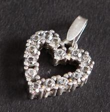 Anhänger Herz mit Zirkonia 925 Silber