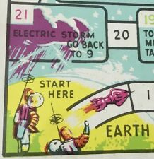 FUNKY 1960S VINTAGE SPACEMEN'S TRIP TO INHABITED STAR TOY GAME BOARD HONG KONG!!