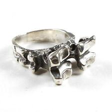 PAUL & ELSE HUGHES Ring, NORWEGEN SILBER (Norway STERLING Studio P) Vintage