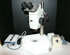Nikon SMZ-U Stereozoom Microscope Diascopic Pole Stand ~4-38X Magnify Nice