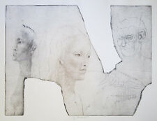 """JIRI ANDERLE Signed 1981 Original Drypoint/Mezzotint - """"Pan and the Two Graces"""""""