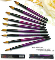 USA Top Quality Kolinsky Acrylic Nail Brush Round size 8 10 12 14 16 18 20 22