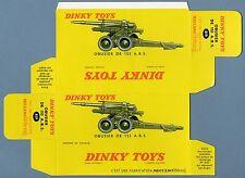 DINKY TOYS 819 : OBUSIER DE 155 A.B.S. box repro boite reprobox refabrication