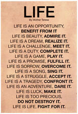 Mother Teresa Life Quote Poster Poster Print, 13x19