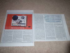 Teac X-3 Open-Reel Review,2 pgs, 1982, Full test, Info