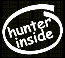 hunter inside vinyl decal sticker funny hunting  jeep truck car wall PC laptop