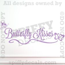Butterfly Kisses Nursery Room Quote Vinyl Wall Decal Sticker Decor Art