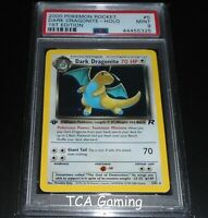 PSA 9 MINT Dark Dragonite 5/82 1ST EDITION Team Rocket HOLO RARE Pokemon Card