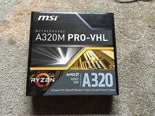 MSI A320M PRO-VHL AM4 Socket AMD Ryzen Micro ATX Motherboard DDR4