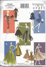 Vogue Craft Pattern 7556 Vintage Doll Clothes Circa 1955. One Size.