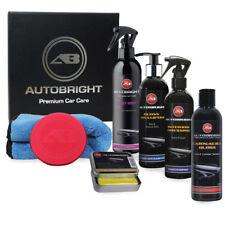 Car Wax Carnauba Creme Microfibre Clay Bar Detailing & Interior Kit Autobright