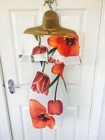 White Floral Tulip Evening Bardot Frill Bodycon Occasion Party Mini Dress £65