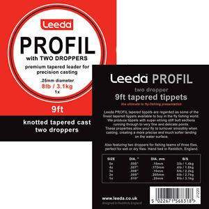 Leeda Profil Casts - 2 Droppers -8lb - 1X