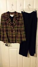 Givenchy Checked Pant Suit  W/ Gold Buttons - Size S