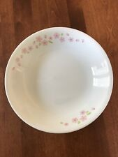 Set of 5 Corelle Pink Cherry Blossom Stew/Soup Plates 8.5 x 1.5 - Mint and Rare!