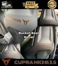 Eaziwrap Leon Cupra Bucket Seat Sticker COPPER