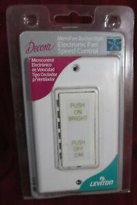 Leviton 10627 W WHITE MicroFAN ROCKER Dim Electronic Fan Speed Control  5A
