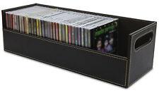 CD Storage Box Rack Holder Stacking Tray Shelf DVD Disk Case Space Organizer New  sc 1 st  eBay & Leather CD DVD u0026 Blu-ray Discs Media Storage Boxes | eBay