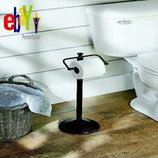 Oil Rubbed Bronze Standing Toilet Paper Holder Home Bathroom Tissue Rack Mount