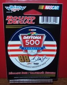 DALE EARNHARDT JR #88 DAYTONA 500 CHAMPION 2014 WINCRAFT 3 INCH ROUND DECAL