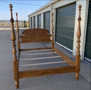 ~SUPER NICE~ETHAN ALLEN CIRCA 1776 COLLECTION MAPLE FULL SIZE POST BED