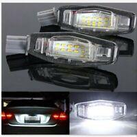 Pair 18 LED 1210 SMD License Plate Light Direct 12V For Honda Acura TL TSX US