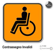 Contrassegno Invalidi  cm 12 x 12 adesivo