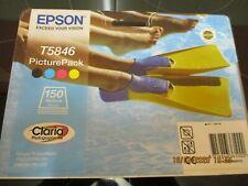 GENUINE EPSON T5846 INK CARTRIDGES & PAPER PACK - SEALED BUT EXPIRED