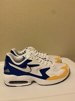 "Size 13 Mens Nike Air Max 2 Light ""Royal Orange"" (Teal White Yellow) BV0987-102"