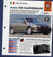 Alfa Romeo 145 Cloverleaf IMP Brochure Specs 1996-Present Group 1, No 41