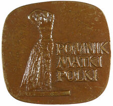 Poland POLISH MEDAL - 1973 Bronze approximately 74mm x 69mm
