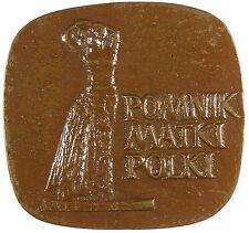 Poland POLISH MEDAL - 1973 Bronze approximately 74mm x 69mm