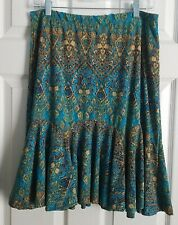 Chaps Size M Multicolor Knee-length Colorful Trumpet Skirt