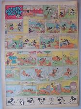 Mickey Mouse Sunday Page by Walt Disney from 5/14/1939 Tabloid Page Size
