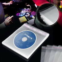 100Pcs/Set Clear CD DVD DISC Cover Carry Sleeves Storage Bag Record Case Wallet