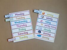 Days of the week and weather peg chart, EYFS, teaching resource, educational