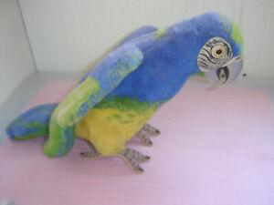 Sammlerauflösung,alte Tierfigur Steiff Papagei Ara 30cm 50er 60er Iahre Vintage.