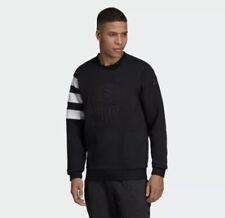 New Sz Sm Mens Adidas Team Usa Volleyball Crew Neck Sweatshirt Black Dy4176