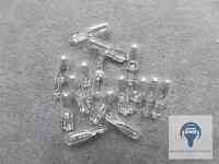 15x Glühbirne Glassockellampe Birne Lampe 12V 1,2W T5 W2x4,6D