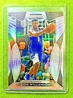 ZION WILLIAMSON SILVER PRIZM ROOKIE CARD JERSEY#1 DUKE RC PELICANS 2019 Prizm DP