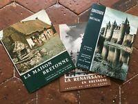 Lote 3x Bretaña Piedra Helias Jos El Doare Arquitectura Bretona 1961-66